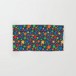 Funky Meeple Pattern Hand & Bath Towel