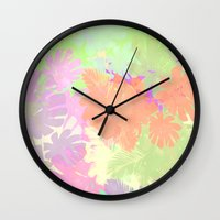 camouflage Wall Clocks featuring camouflage by 83 Oranges™