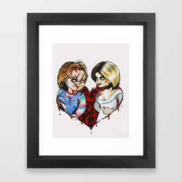 Tiffany and Chucky Framed Art Print