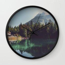 Blausee lake Wall Clock