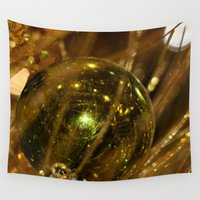 deco Wall Tapestries featuring Golden Deco by IowaShots