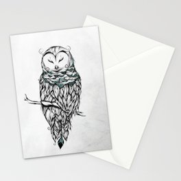 Poetic Snow Owl Stationery Cards