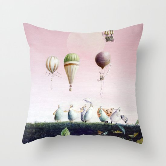 Un Deux Trois Throw Pillow