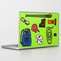 hiking Laptop & iPad Skins featuring Hiking by Jonny Penn