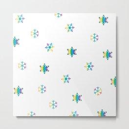 Snowflakes_E Metal Print