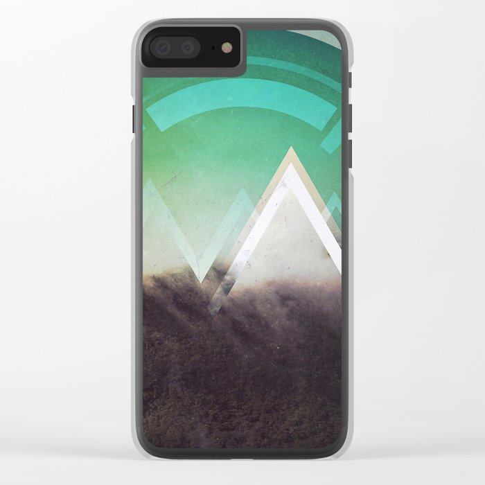 Fractions B26 Clear iPhone Case