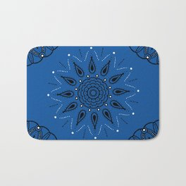 Central Mandala Blue Lapis Bath Mat