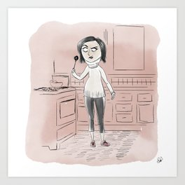 Coraline Mom Art Print