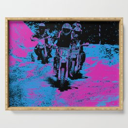 """""""Born to Race"""" Motocross Dirt-Bike Racers Serving Tray"""