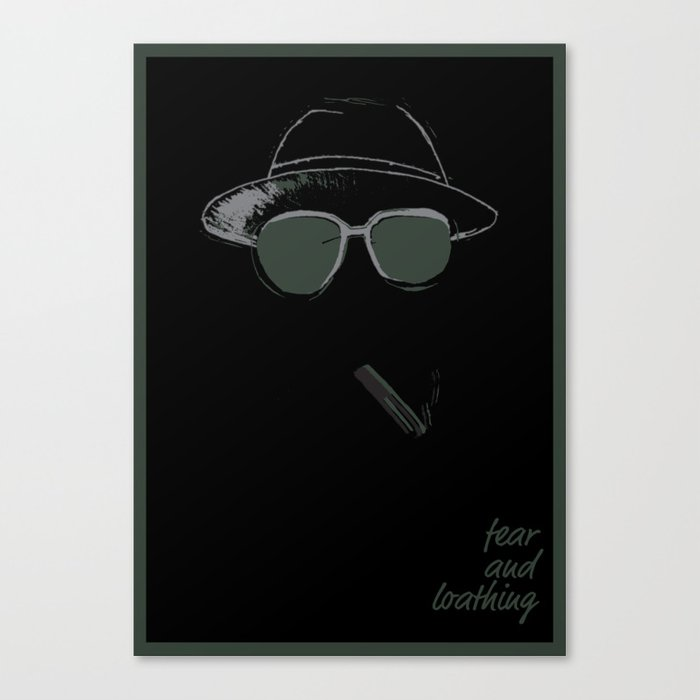 7f0a1fbfcc87 Fear and Loathing Canvas Print by danielbrowndesign | Society6