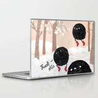 furry Laptop & iPad Skins featuring Mr. Furry Pants by Hyein Lee