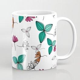 Retro .Floral pattern Rustic Coffee Mug