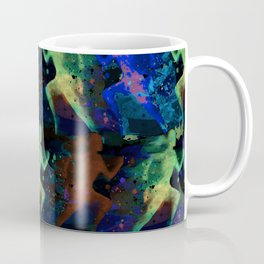 Watercolor women runner pattern on dark background Coffee Mug