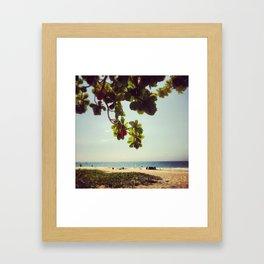 Mauna Kea Beach Framed Art Print