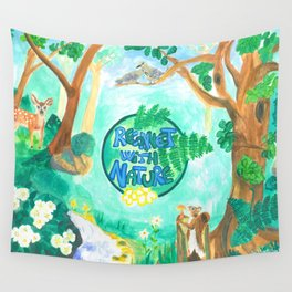 Medilludesign Ecotherapy Forest 2 Wall Tapestry