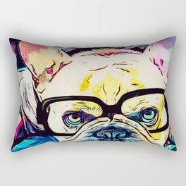 Frenchie poindexter Rectangular Pillow
