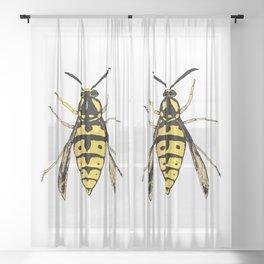 Wasp vector Sheer Curtain