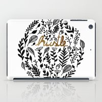 hustle iPad Cases featuring Hustle by wildpink