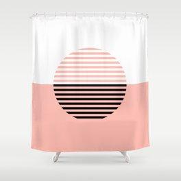 Horizons Geometric Design 5 - Peach Pink Shower Curtain