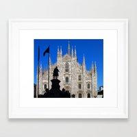 milan Framed Art Prints featuring Milan by Kallian