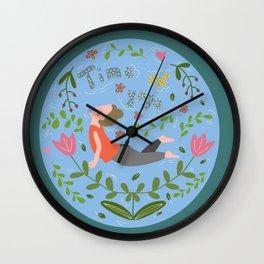 Time yoga Wall Clock