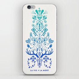 La Vie & La Mort – Blue Ombré iPhone Skin