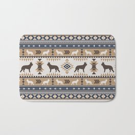 Boho dogs | German shepherd pattern tan Bath Mat