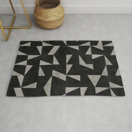 Mid-Century Modern Pattern No.12 - Black and Gray Concrete Rug