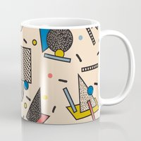 eames Mugs featuring Memphis Inspired Pattern 7 by Season of Victory