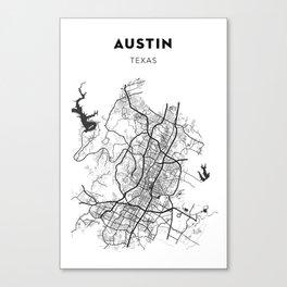 AUSTIN MAP PRINT Canvas Print
