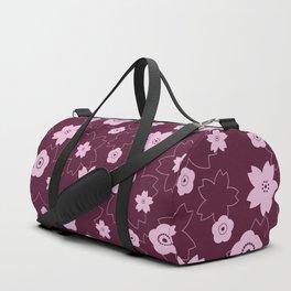 Sakura blossom - burgundy Duffle Bag