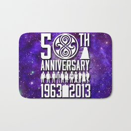 50th anniversary Doctor Who 1 Bath Mat