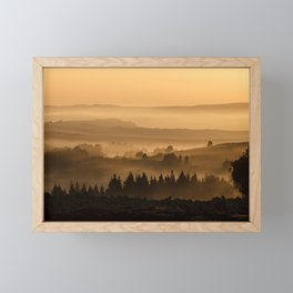 My road, my way. Beige. Framed Mini Art Print