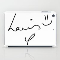 louis tomlinson iPad Cases featuring Louis Tomlinson - One Direction by Moments Design