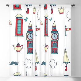 great britain pattern Blackout Curtain