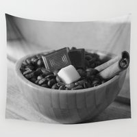 spice Wall Tapestries featuring Coffee and spice  by Tanja Riedel