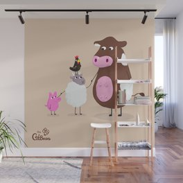 We Farm Animals Should Stick Together Wall Mural