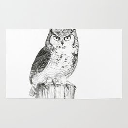 My great horned owl: Nuit Rug