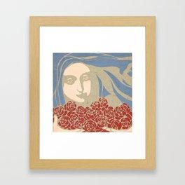"Koloman (Kolo) Moser ""Woman's Head with Roses"" Framed Art Print"