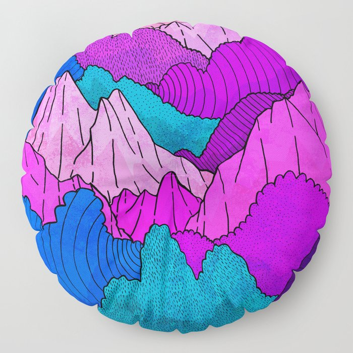 The night time hills Floor Pillow