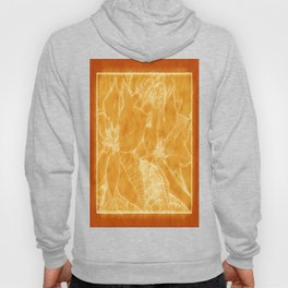 Poinsettias Outlined Orange Hoody