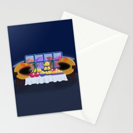"""You prepare a table before me in the presence of my enemies."" Psalm 23:5 Stationery Cards"