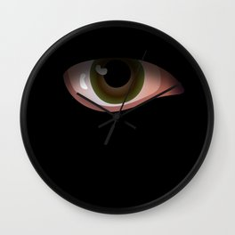 Eye in Black Wall Clock