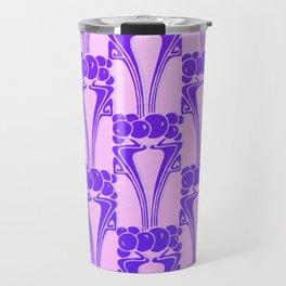 Purple,Art nouveau, pattern,floral pattern, belle époque,victorian,elegant,chic,modern,trendy,beauti Travel Mug