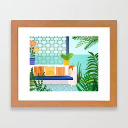Sanctuary - Tropical Garden Villa Framed Art Print
