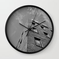 seoul Wall Clocks featuring Building in Seoul by CABINWONDERLAND
