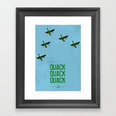 Mighty Ducks Framed Art Print
