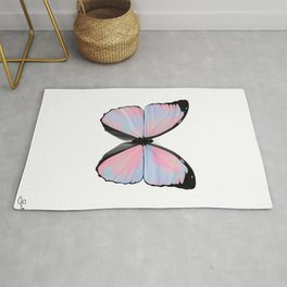 cotton candy butterfly Rug