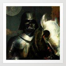Knight Vader  Art Print