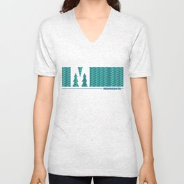 MN Logo - With Pattern Unisex V-Neck